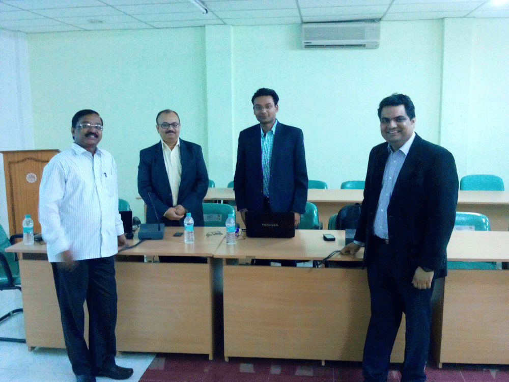 Serosoft's COO Siddharth Badjatya with KL University Team